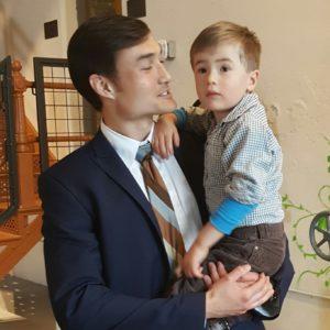 happy baby asian american actor