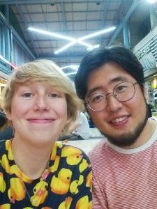 cute belgian-korean couple